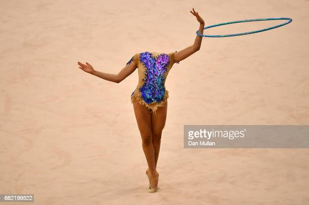 Ecem Cankaya of Turkey competes in the Individual Gymnastics Qualification during day one of Baku 2017 4th Islamic Solidarity Games at the National...