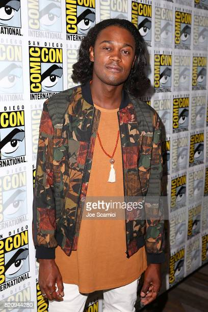 Echo Kellum arrives at the 'Arrow' press line at ComicCon International 2017 on July 22 2017 in San Diego California