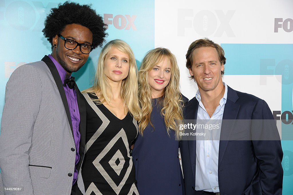Echo Kellum, <a gi-track='captionPersonalityLinkClicked' href=/galleries/search?phrase=Lucy+Punch&family=editorial&specificpeople=207131 ng-click='$event.stopPropagation()'>Lucy Punch</a>, <a gi-track='captionPersonalityLinkClicked' href=/galleries/search?phrase=Dakota+Johnson&family=editorial&specificpeople=2091563 ng-click='$event.stopPropagation()'>Dakota Johnson</a>, and <a gi-track='captionPersonalityLinkClicked' href=/galleries/search?phrase=Nat+Faxon&family=editorial&specificpeople=734812 ng-click='$event.stopPropagation()'>Nat Faxon</a> attends attends the Fox 2012 Programming Presentation Post-Show Party at Wollman Rink, Central Park on May 14, 2012 in New York City.