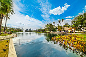 Echo park in Los Angeles, California