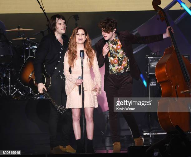 Echosmith featuring singer Sydney Sierota performs onstage during MTV Fandom Fest at PETCO Park on July 21 2017 in San Diego California