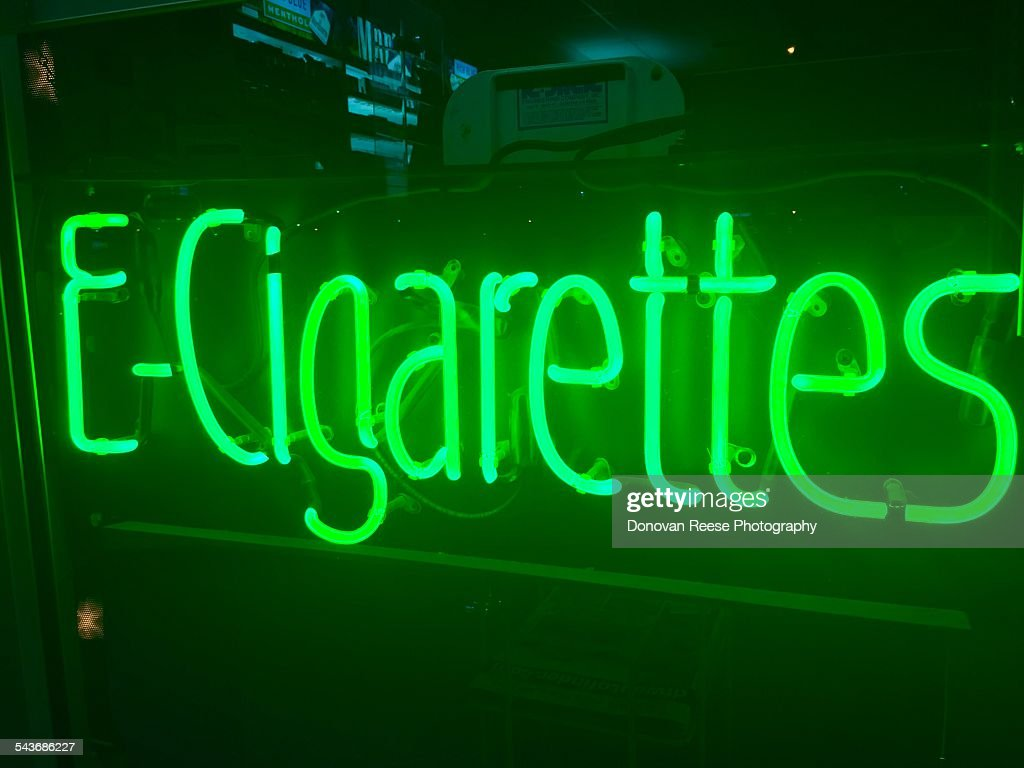 E-Cigarettes. Neon sign 3-2015