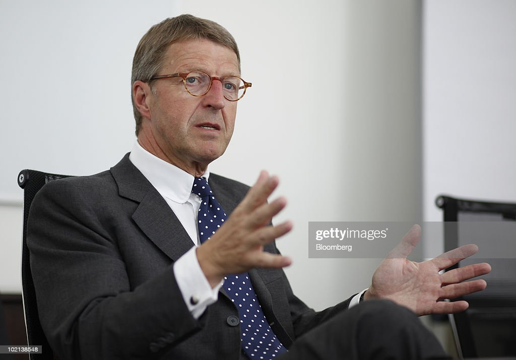 Eckhard Cordes, chief executive officer of Metro AG, gestures during an interview in Berlin, Germany, on Wednesday, June 16, 2010. Metro AG, Germany's largest retailer, said its first-quarter results were 'very promising' and sales growth in Asia exceeded 10 percent. Photographer: Michele Tantussi/Bloomberg via Getty Images
