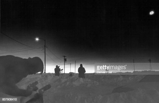 Eclipses Solar Glasgow Montana Photographer according ***** during total Eclipse Mon 2/26/79 at 940 am on the airstrip at Glasgow The darkness lasted...
