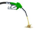 eco Fuel concept nozzle pump with hose 3d render on white no shadoweco Fuel concept nozzle pump with hose 3d render on green background eco Fuel concept nozzle pump with hose 3d render on white backgr