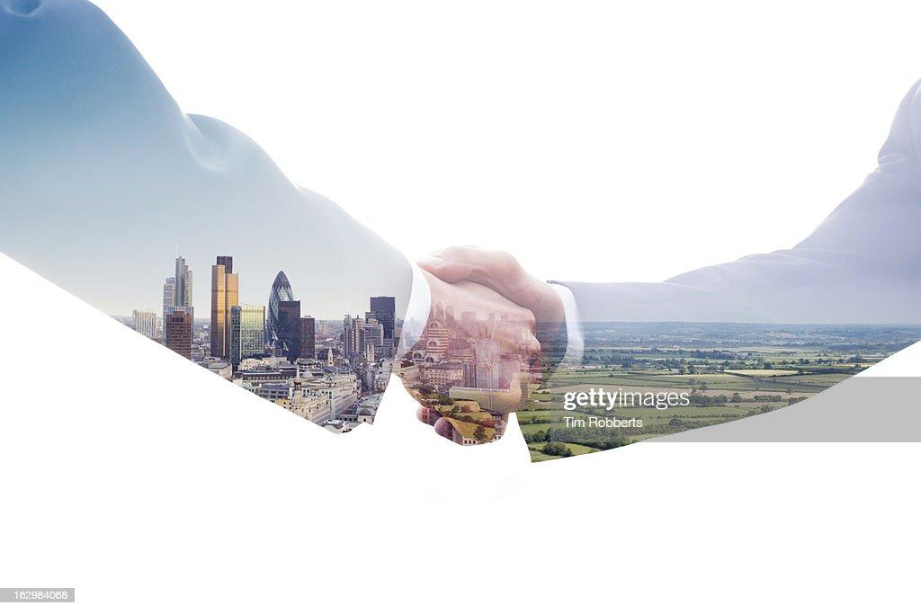 Eco handshake. : Stock Photo