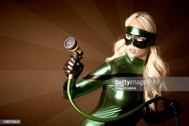 Eco Super-héros prêt à nettoyer