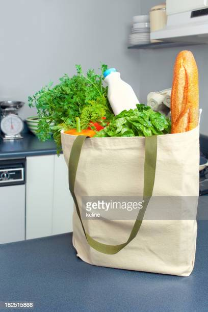 Ecología bolsa de compra de comestibles