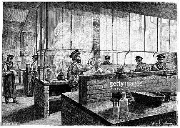 L'Ecole Centrale des Arts et Manufactures Paris 1887 First year students doing practical work in the laboratory