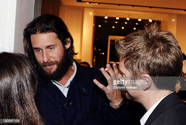 Ecologist David de Rothschild and Chief Creative Officer of Burberry Christopher Bailey attend the Burberry Body Event hosted by Christopher Bailey...