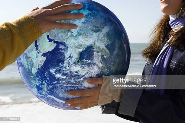 Ecology concept, protecting the earth