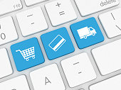 E-Commerce - internet shopping, payment. shipping