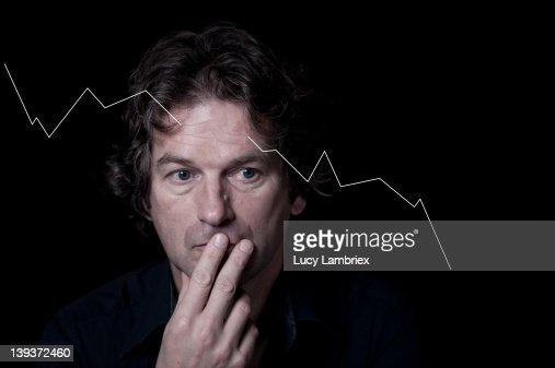 Economic frown : Stockfoto