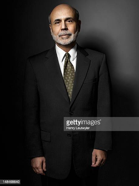Economist and chairman of the Federal Reserve Bank Ben Bernanke is photographed for The Atlantic on January 30 2012 in Washington DC