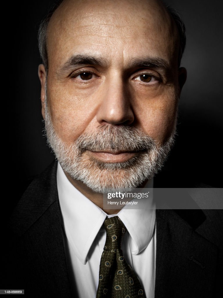Economist and chairman of the Federal Reserve Bank, <a gi-track='captionPersonalityLinkClicked' href=/galleries/search?phrase=Ben+Bernanke&family=editorial&specificpeople=568098 ng-click='$event.stopPropagation()'>Ben Bernanke</a>, is photographed for The Atlantic on January 30, 2012 in Washington, DC.