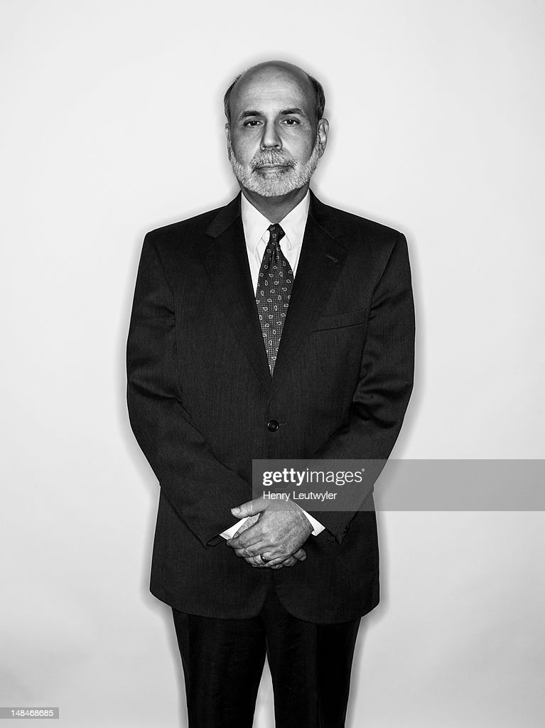 Economist and chairman of the Federal Reserve Bank, Ben Bernanke, is photographed for The Atlantic on January 30, 2012 in Washington, DC.