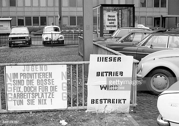 economy steel industry in the Ruhr area strike on Thyssen in 1978 strike call DDuisburg Rhine Ruhr area North RhineWestphalia
