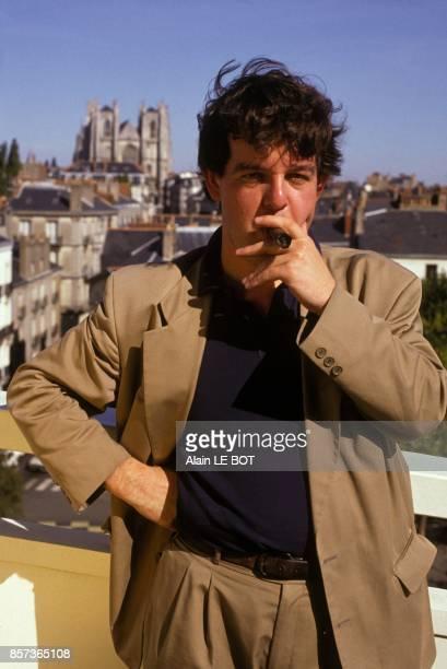 L'ecrivain Stephane Hoffmann laureat du prix litteraire Roger Nimier pour son livre Chateau Bougon le 24 mai 1991 a Nantes France
