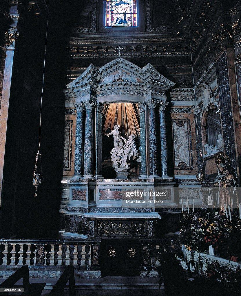 Ecstasy of St. Teresa in Santa Maria della Vittoria in Rome (Estasi di Santa Teresa in Santa Maria della Vittoria a Roma), by Gian Lorenzo Bernini, 1644 - 1652, 17th Century, marble.