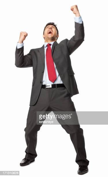 Ecstatic Business Executive - Isolated