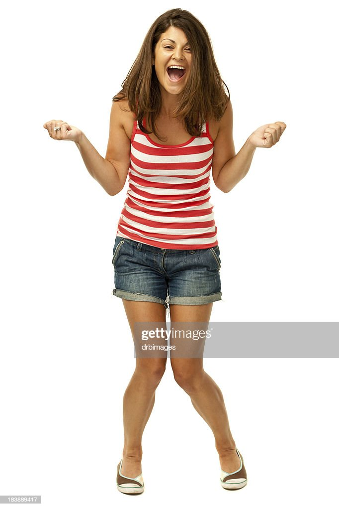 Ecstatic Happy Young Woman