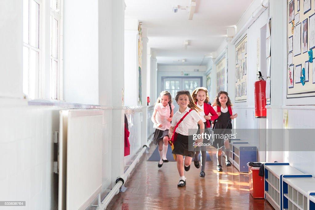 Ecstatic Schoolgirls : Stock Photo