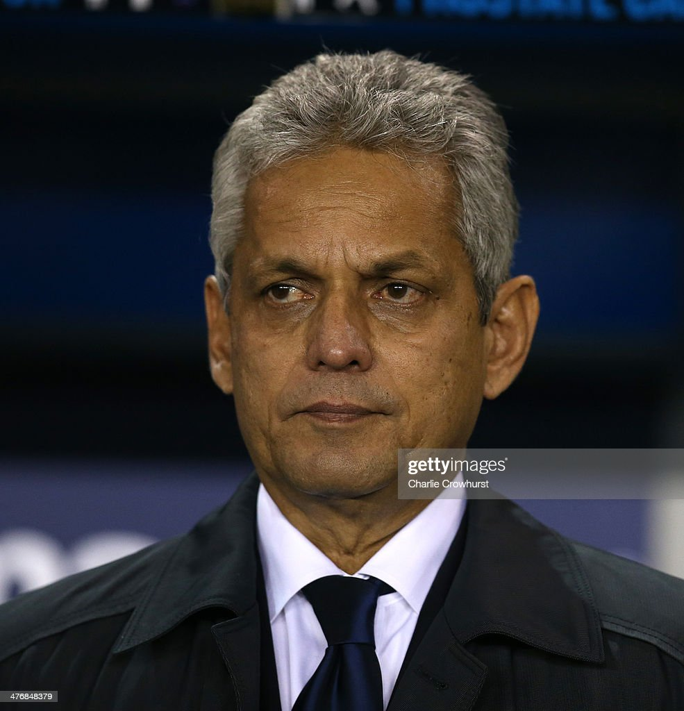 Ecuador manager <a gi-track='captionPersonalityLinkClicked' href=/galleries/search?phrase=Reinaldo+Rueda&family=editorial&specificpeople=2210216 ng-click='$event.stopPropagation()'>Reinaldo Rueda</a> during the International Friendly match between Australia and Ecuador at The Den on March 05, 2014 in London, England.