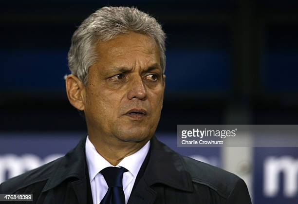 Ecuador manager Reinaldo Rueda during the International Friendly match between Australia and Ecuador at The Den on March 05 2014 in London England