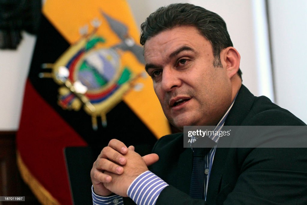 Ecuadorean Interior Minister <b>Jose Serrano</b> speaks during an inteview with AFP <b>...</b> - ecuadorean-interior-minister-jose-serrano-speaks-during-an-inteview-picture-id187011997