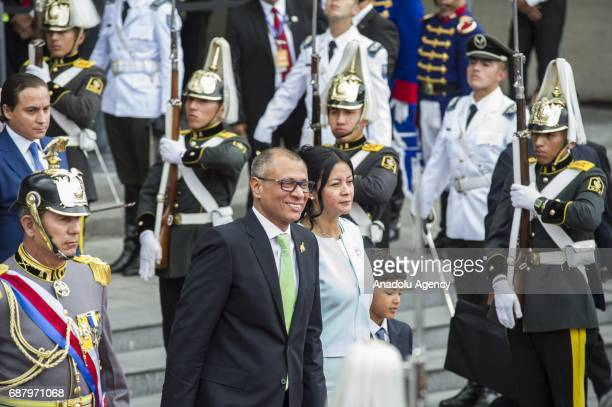 Ecuadorean new VicePresident Jorge Glas leaves the National Assembly in Quito on May 24 2017 Ecuador's new president Lenin Moreno took office...