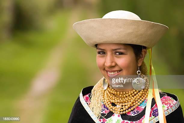 Mujer joven ecuatorianos