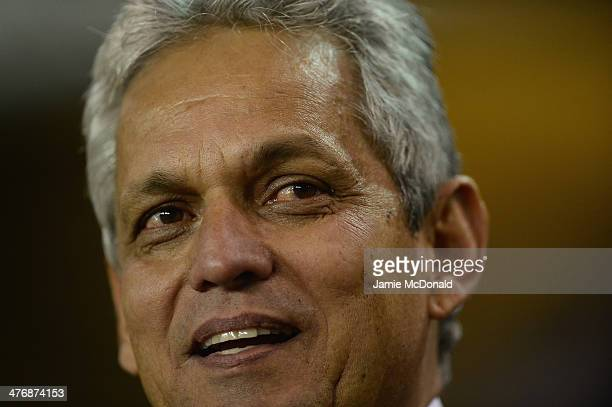 Ecuador's manager Reinaldo Rueda looks onduring the International Friendly match between Australia and Ecuador at The Den on March 5 2014 in London...