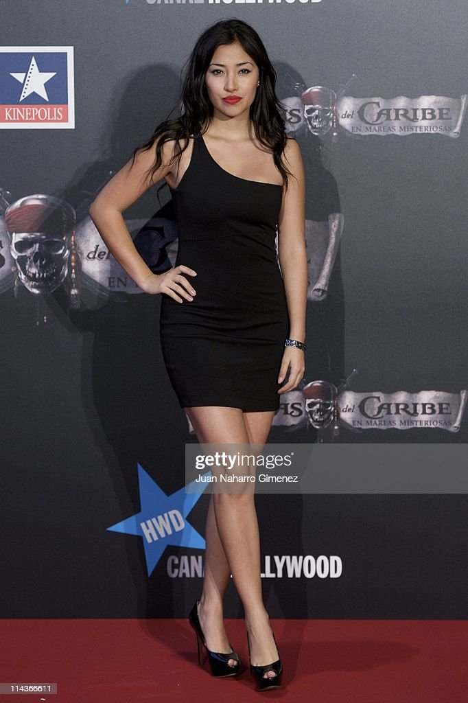 Ecuatorian actress Giselle Calderon attends 'Pirates Of The Caribbean: On Stranger Tides' (Piratas del Caribe: en Mareas Misteriosas) premiere at Kinepolis Cinema on May 18, 2011 in Madrid, Spain.