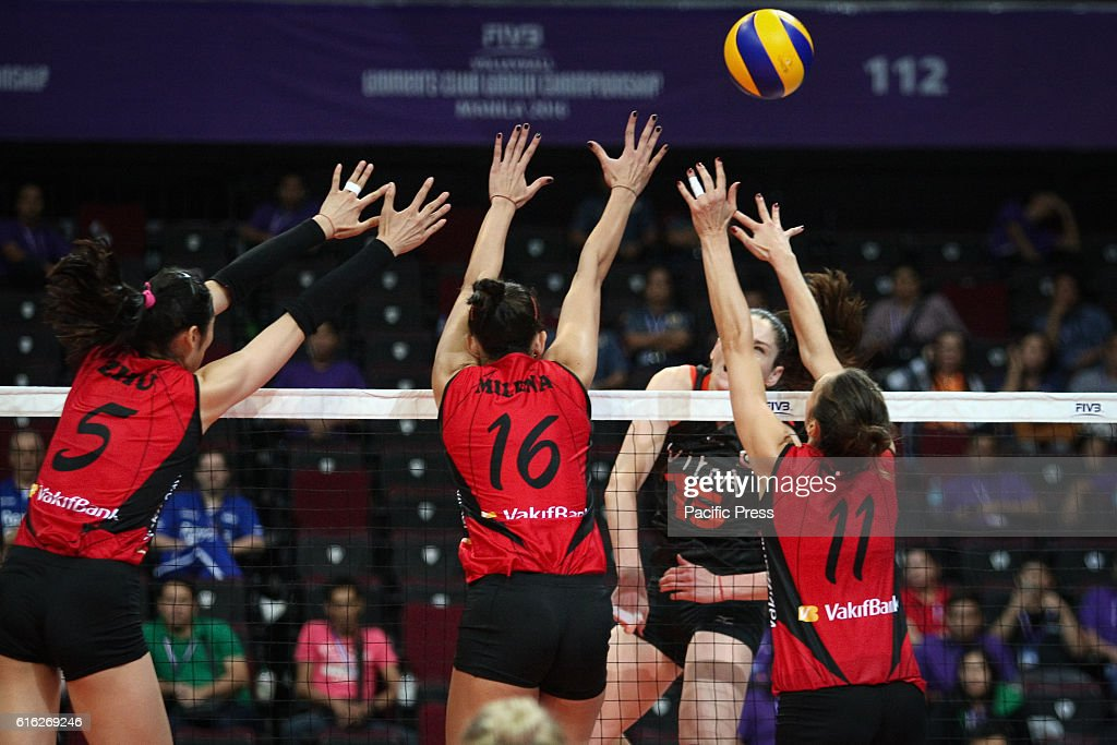 Eczacibasi Vitra beat VakifBank , 3 sets to 1, to advance to the finals of the FIVB 2016 World Women's Volleyball Championship at the Mall of Asia Arena in Pasay City.