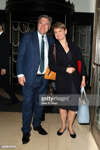 Ed Balls and Yvette Cooper attend the London Evening Standard British Film Awards on December 8 2016 in London England