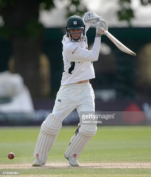Ed Barnard of Worcestershire bats during day three of the tour match between Worcestershire and New Zealand at New Road on May 16 2015 in Worcester...