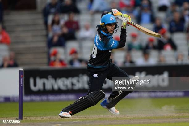 Ed Barnard of Worcestershire Rapids batting during the NatWest T20 Blast match between Lancashire Lightning and Worcestershire Rapids at Old Trafford...