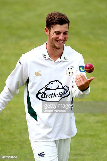 Ed Barnard of Worcestershire warms up ahead of Day 1 of the LV County Championship Division One match between Hampshire and Worcestershire at Ageas...