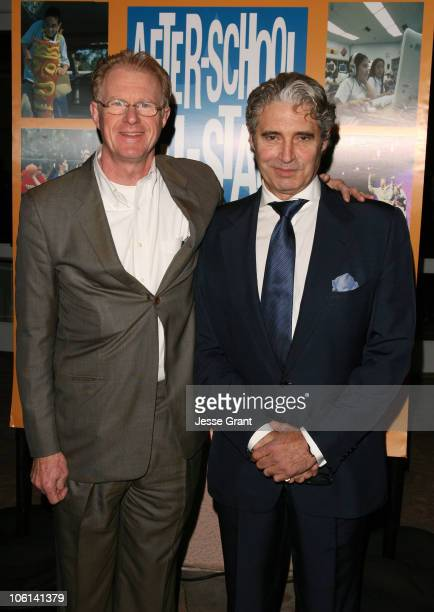 Ed Begley and Michael Nouri during Reaching for the Stars Charity Dinner Arrivals at The Beverly Hills Hotel in Beverly Hills California United States