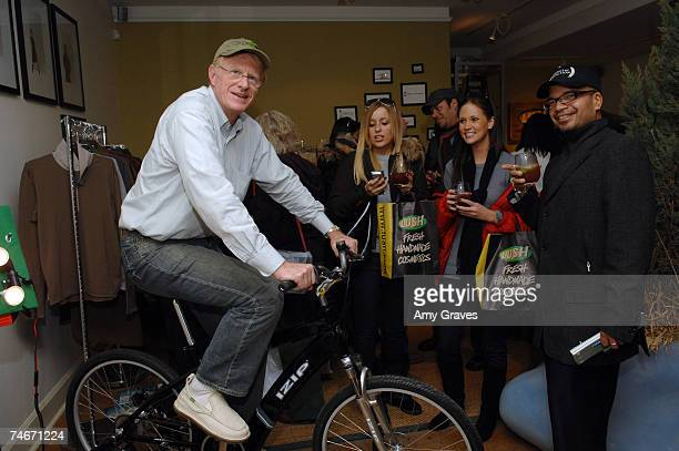 Ed Begley Jr on IZIP Bicycle at the Project Greenhouse in Park City Utah