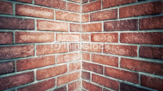 ed brick stone wall texture,Corner of the building. : Foto stock