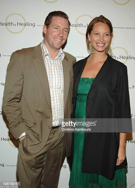 Ed Burns and Christy Turlington during 2005 Benefit for Beth Israel's Continuum Center at Metropolitan Pavilion in New York City New York United...