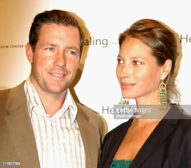 Ed Burns and Christy Turlington during Organic Elegance An Evening of Organic Ambiance World Music and Holistic Elegance to Benefit The Continuum...