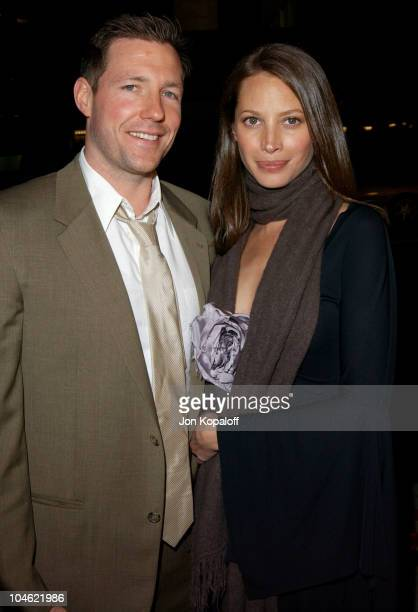 Ed Burns Christy Turlington during 'Confidence' Los Angeles Premiere at The Academy Of Motion Pictures Arts Sciences in Beverly Hills California...