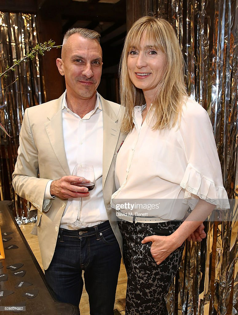 Ed Burstell and Jackie Annesley attend the Brix Smith Start Autobiography Launch at Liberty London on May 5, 2016 in London, England.