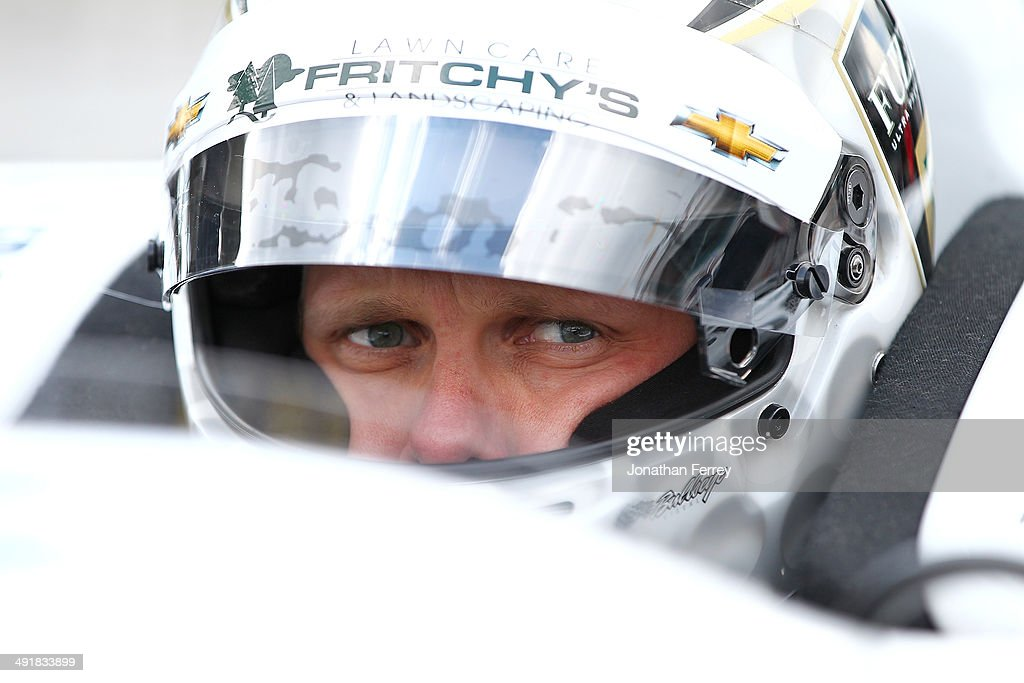 Ed Carpenter, driver of the #20 Fuzzy's Vodka Ed Carpenter Racing Chevrolet Dallara waits to qualify for the 98th Indianapolis 500 Mile Race on May 17, 2014 at the Indianapolis Motor Speedway in Indianapolis, Indiana.