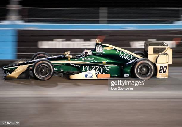 Ed Carpenter qualified 21st for the Verizon IndyCar Desert Diamond West Valley Phoenix Grand Prix on April 28 at Phoenix International Raceway in...