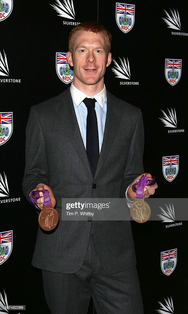 <a gi-track='captionPersonalityLinkClicked' href=/galleries/search?phrase=Ed+Clancy&family=editorial&specificpeople=4167240 ng-click='$event.stopPropagation()'>Ed Clancy</a> poses with his London 2012 Olympic medals as he attends the British Racing Drivers Club awards at Grand Connaught Rooms on December 3, 2012 in London, England.