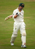 Ed Cowan of Australia looks dejected after being dismissed by Liam Plunkett of England Lions during day two of the Tour Match between England Lions...