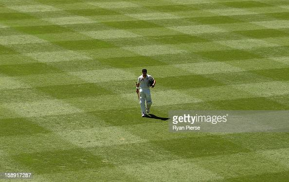 Ed Cowan of Australia looks dejected after being run out during day two of the Third Test match between Australia and Sri Lanka at Sydney Cricket...